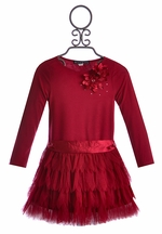 Biscotti Fancy Holiday Dress in Red (Size 4)
