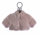 Biscotti Faux Fur Shrug for Girls in Dusty Rose