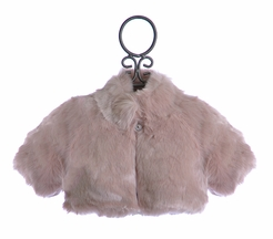 Biscotti Faux Fur Shrug for Girls in Dusty Rose (Size 6X)
