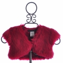 Biscotti Faux Fur Shrug for Girls in Red