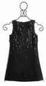 Biscotti Girls Black Dress Falling for Dots