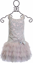 Biscotti Girls Designer Dress in Silver