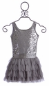 Biscotti Girls Dress Silver Snowflake
