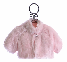 Biscotti Girls Faux Fur Shrug in Pink (Size 4T)