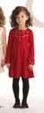 Biscotti Girls Holiday Dress Red Falling for Dots