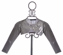 Biscotti Girls Holiday Shrug Silver Snowflake