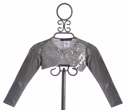 Biscotti Girls Holiday Shrug Silver Snowflake (Size 4)
