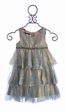 Biscotti Girls Luxurious Dress Tiered Princess (Size 8)
