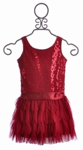 Biscotti Girls Red Party Dress (Size 6X)