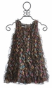 Biscotti Girls Ruffle Dress Brown Iridescence (Size 5)