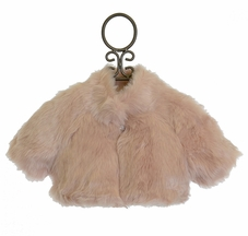 Biscotti Girls Shrug in Faux Fur Champagne