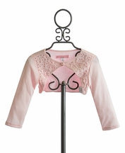 Biscotti Girls Shrug Pink with Beading (12Mos & MD 10)