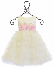 Biscotti Girls White Dress Wedding Belles