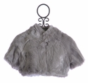 Biscotti Grey Faux Fur Shrug for Girls