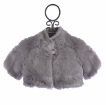 Biscotti Grey Faux Fur Shrug for Girls (2T,3T,5,14)