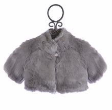 Biscotti Gray Faux Fur Shrug for Girls (5,10,14)