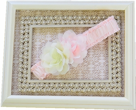 Biscotti Headband in Pink Dancing Vines (Toddler & Girl)