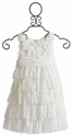 Biscotti Ivory Flower Girl Dress Blushing Rose