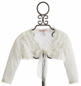 Biscotti Ivory Lace Girls Shrug