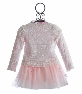 Biscotti Lace Parfait Girls Top and Skirt Set