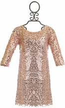 Biscotti Light Pink Sequin Dress for Girls