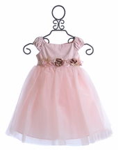 Biscotti Little Girls Ballerina Dress with Flowers (Size 6 Mos)