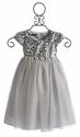 Biscotti Little Girls Dress Silver Snow Princess