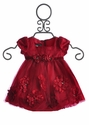 Biscotti Little Girls Red Dress Pocketful of Posies