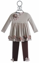 Biscotti Little Girls Tunic and Legging Striped Party Mix