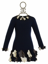 Biscotti Navy Dress Uptown Petals (2T & 4T)