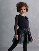 Biscotti Navy Skirt Set for Girls (4,12,14)