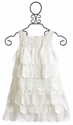Biscotti Off White Girls Dress Petal Parfait