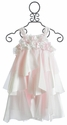 Biscotti Pink Satin Girls Strappy Dress Fan Club