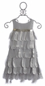 Biscotti Platinum Petals Girls Sleeveless Party Dress