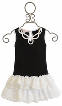 Biscotti Pretty Chic Knit Dress in Black and White (4 & 7)