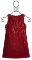 Biscotti Red Holiday Dress for Girls Falling for Dots