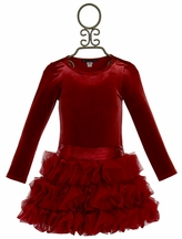 Biscotti Red Holiday Dress for Girls High Drama (12Mos,2T,4T,4,6X)