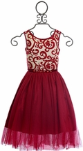 Biscotti Red Holiday Dress for Girls