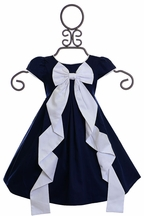 Biscotti Rose Reflection Bow Dress Navy