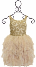 Biscotti Royal Treatment Dress in Gold
