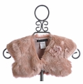 Biscotti Shimmering Rose Girls Faux Fur Shrug