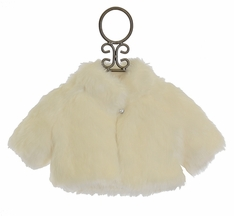 Biscotti Shrug in Cream Faux Fur