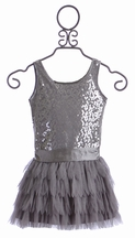 Biscotti Silver Sequin Dress for Girls (5,8,10)