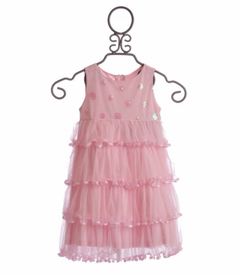 Biscotti Soiree Sparkle Toddler Easter Dress Pink