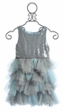 Biscotti Spot On Girls Silver Holiday Dress