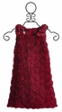 Biscotti Standing Ovation Deep Red Girls Holiday Dress