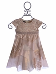 Biscotti Toddler Holiday Dress Tiered Lace