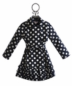 Biscotti Trench Coat Polka Dot Navy and White