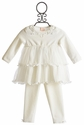 Biscotti Tulle Ruffle Infant Dress with Legging Tippy Toes