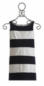 Biscotti Tween Dress in Navy and White Stripe